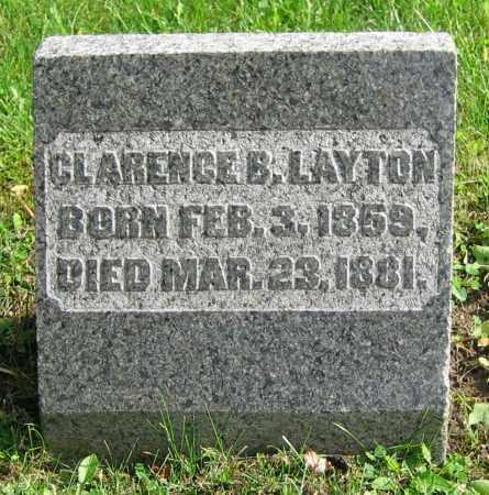 LAYTON, CLARENCE B. - Clark County, Ohio | CLARENCE B. LAYTON - Ohio Gravestone Photos