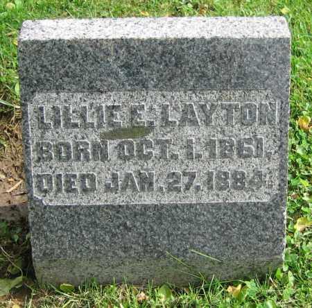 LAYTON, LILLIE E. - Clark County, Ohio | LILLIE E. LAYTON - Ohio Gravestone Photos