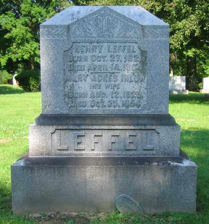 LEFFEL, MARY AGNES - Clark County, Ohio | MARY AGNES LEFFEL - Ohio Gravestone Photos