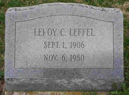 LEFFEL, LEROY C - Clark County, Ohio | LEROY C LEFFEL - Ohio Gravestone Photos