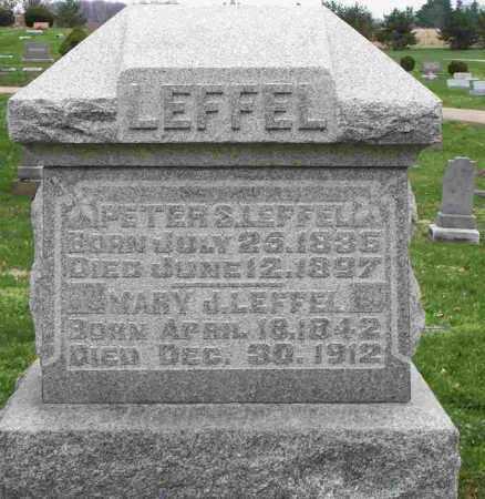 LEFFEL, MARY J - Clark County, Ohio | MARY J LEFFEL - Ohio Gravestone Photos