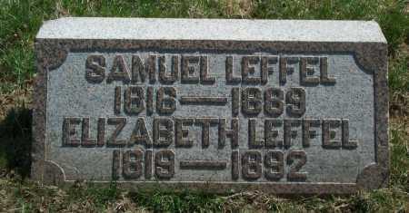 LEFFEL, ELIZABETH - Clark County, Ohio | ELIZABETH LEFFEL - Ohio Gravestone Photos