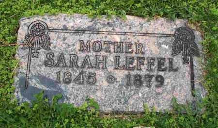 LEFFEL, SARAH - Clark County, Ohio | SARAH LEFFEL - Ohio Gravestone Photos