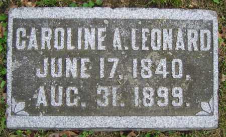 LEONARD, CAROLINE A. - Clark County, Ohio | CAROLINE A. LEONARD - Ohio Gravestone Photos