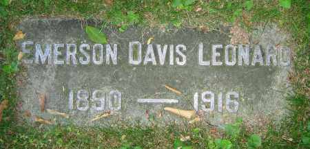 LEONARD, EMERSON DAVIS - Clark County, Ohio | EMERSON DAVIS LEONARD - Ohio Gravestone Photos