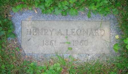 LEONARD, HENRY A. - Clark County, Ohio | HENRY A. LEONARD - Ohio Gravestone Photos