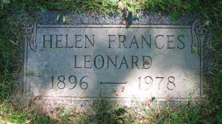 LEONARD, HELEN FRANCES - Clark County, Ohio | HELEN FRANCES LEONARD - Ohio Gravestone Photos