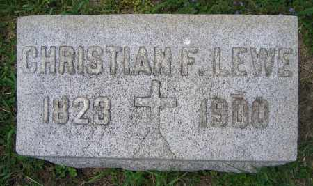 LEWE, CHRISTIAN F. - Clark County, Ohio | CHRISTIAN F. LEWE - Ohio Gravestone Photos
