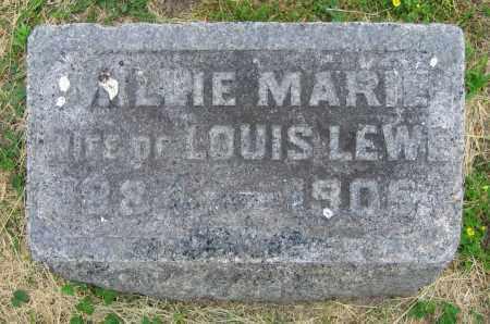 LEWE, MILLIE MARIE - Clark County, Ohio | MILLIE MARIE LEWE - Ohio Gravestone Photos