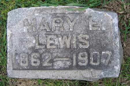 LEWIS, MARY E. - Clark County, Ohio | MARY E. LEWIS - Ohio Gravestone Photos