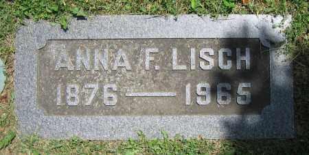 LISCH, ANNA F. - Clark County, Ohio | ANNA F. LISCH - Ohio Gravestone Photos