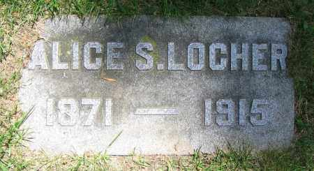 LOCHER, ALICE S. - Clark County, Ohio | ALICE S. LOCHER - Ohio Gravestone Photos