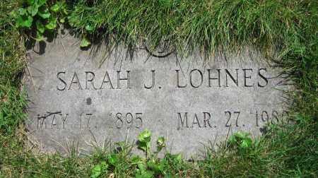 LOHNES, SARAH J. - Clark County, Ohio | SARAH J. LOHNES - Ohio Gravestone Photos