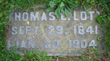LOTT, THOMAS E. - Clark County, Ohio | THOMAS E. LOTT - Ohio Gravestone Photos