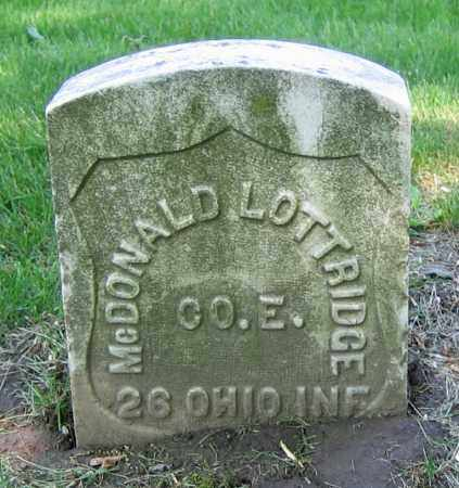 LOTTRIDGE, MCDONALD - Clark County, Ohio | MCDONALD LOTTRIDGE - Ohio Gravestone Photos