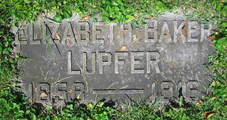 BAKER LUPFER, ELIZABETH - Clark County, Ohio | ELIZABETH BAKER LUPFER - Ohio Gravestone Photos