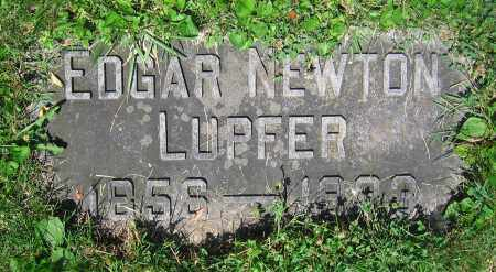 LUPFER, EDGAR NEWTON - Clark County, Ohio | EDGAR NEWTON LUPFER - Ohio Gravestone Photos