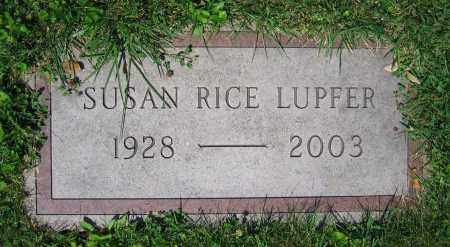 RICE LUPFER, SUSAN - Clark County, Ohio | SUSAN RICE LUPFER - Ohio Gravestone Photos