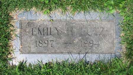 LUTZ, EMILY H. - Clark County, Ohio | EMILY H. LUTZ - Ohio Gravestone Photos