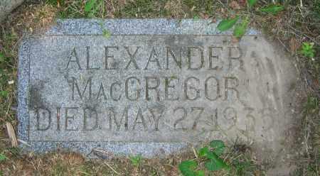 MACGREGOR, ALEXANDER - Clark County, Ohio | ALEXANDER MACGREGOR - Ohio Gravestone Photos