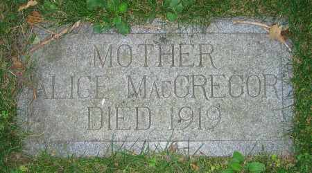 MACGREGOR, ALICE - Clark County, Ohio | ALICE MACGREGOR - Ohio Gravestone Photos
