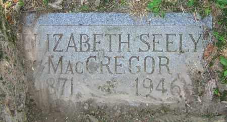 SEELY MACGREGOR, ELIZABETH - Clark County, Ohio | ELIZABETH SEELY MACGREGOR - Ohio Gravestone Photos