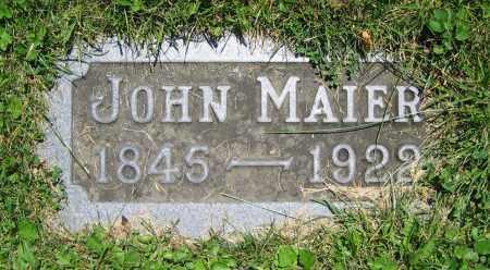 MAIER, JOHN - Clark County, Ohio | JOHN MAIER - Ohio Gravestone Photos