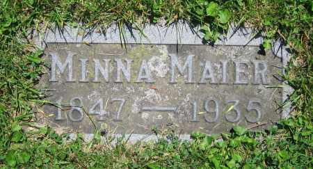 MAIER, MINNA - Clark County, Ohio | MINNA MAIER - Ohio Gravestone Photos