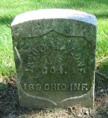 MALONE, JACOB - Clark County, Ohio | JACOB MALONE - Ohio Gravestone Photos