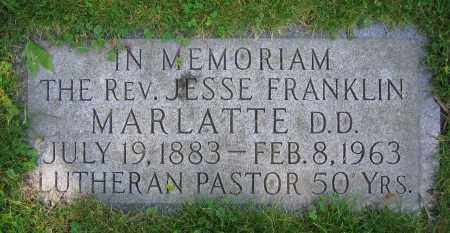 MARLATTE, JESSE FRANKLIN  REV.  D.D. - Clark County, Ohio | JESSE FRANKLIN  REV.  D.D. MARLATTE - Ohio Gravestone Photos