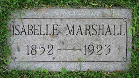 MARSHALL, ISABELLE - Clark County, Ohio | ISABELLE MARSHALL - Ohio Gravestone Photos