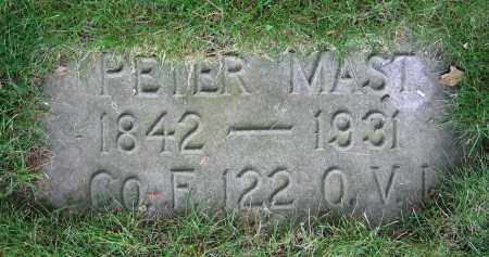 MAST, PETER - Clark County, Ohio | PETER MAST - Ohio Gravestone Photos