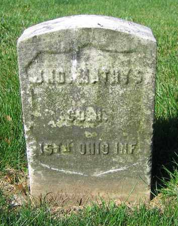 MATHYS, JNO. - Clark County, Ohio | JNO. MATHYS - Ohio Gravestone Photos