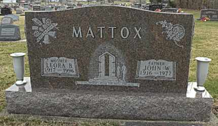 MATTOX, LEORA - Clark County, Ohio | LEORA MATTOX - Ohio Gravestone Photos