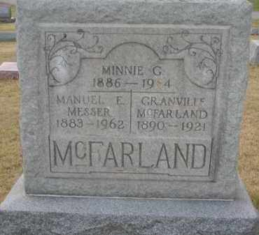 BURKS MCFARLAND MESSER, MINNIE - Clark County, Ohio | MINNIE BURKS MCFARLAND MESSER - Ohio Gravestone Photos