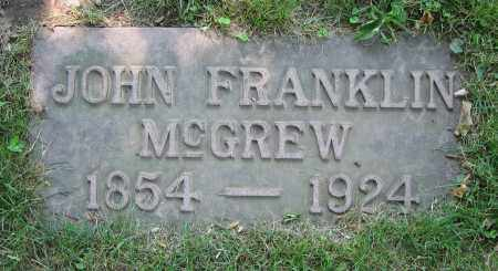 MCGREW, JOHN FRANKLIN - Clark County, Ohio | JOHN FRANKLIN MCGREW - Ohio Gravestone Photos