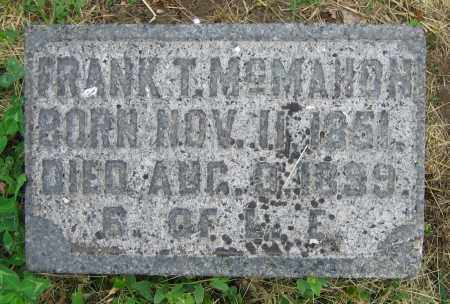 MCMAHON, FRANK T. - Clark County, Ohio | FRANK T. MCMAHON - Ohio Gravestone Photos