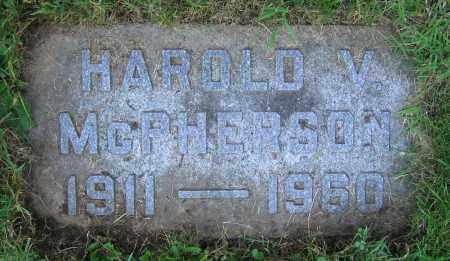 MCPHERSON, HAROLD V. - Clark County, Ohio | HAROLD V. MCPHERSON - Ohio Gravestone Photos