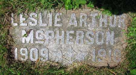 MCPHERSON, LESLIE ARTHUR - Clark County, Ohio | LESLIE ARTHUR MCPHERSON - Ohio Gravestone Photos