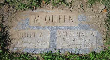 MCQUEEN, KATHERINE W. - Clark County, Ohio | KATHERINE W. MCQUEEN - Ohio Gravestone Photos