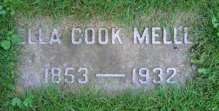 COOK MELLEN, ELLA - Clark County, Ohio | ELLA COOK MELLEN - Ohio Gravestone Photos