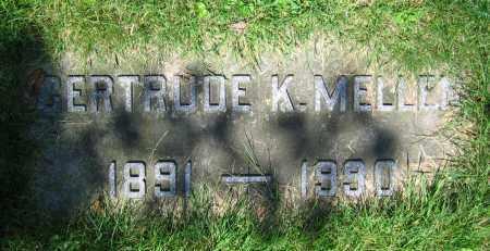 MELLEN, GERTRUDE K. - Clark County, Ohio | GERTRUDE K. MELLEN - Ohio Gravestone Photos