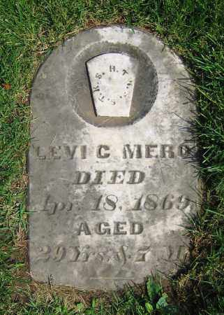 MERO, LEVI C. - Clark County, Ohio | LEVI C. MERO - Ohio Gravestone Photos