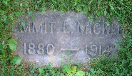 MICKLE, EMMIT L. - Clark County, Ohio | EMMIT L. MICKLE - Ohio Gravestone Photos