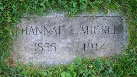 MICKLE, HANNAH L. - Clark County, Ohio | HANNAH L. MICKLE - Ohio Gravestone Photos