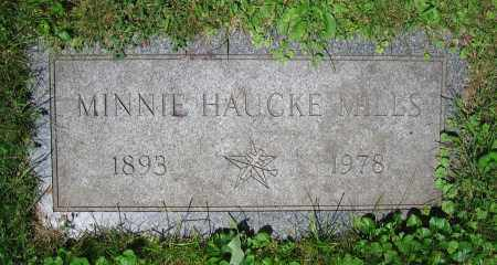 HAUCKE MILLS, MINNIE - Clark County, Ohio | MINNIE HAUCKE MILLS - Ohio Gravestone Photos