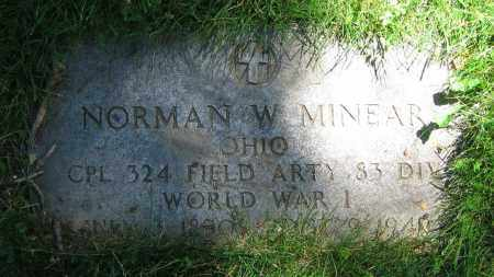 MINEAR, NORMAN W. - Clark County, Ohio | NORMAN W. MINEAR - Ohio Gravestone Photos