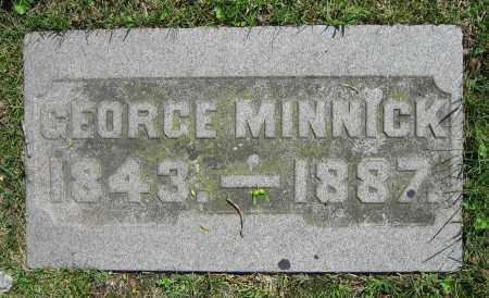 MINNICK, GEORGE - Clark County, Ohio | GEORGE MINNICK - Ohio Gravestone Photos