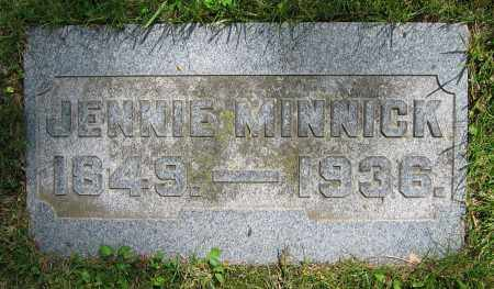 MINNICK, JENNIE - Clark County, Ohio | JENNIE MINNICK - Ohio Gravestone Photos