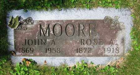 MOORE, ROSE A. - Clark County, Ohio | ROSE A. MOORE - Ohio Gravestone Photos